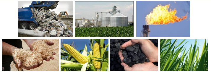 biomass, biogas, landfill gas, methanol, ethanol, municipal solid waste & sugars